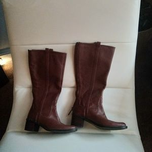 Shoes - Calvin Klein Haydee Leather Riding Boots